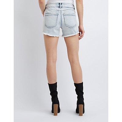 Refuge Girlfriend Cut Off Denim Shorts