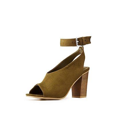 Peep Toe Ankle Strap Sandals