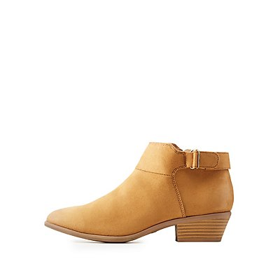 Qupid Faux Suede Chelsea Booties