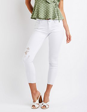 Destroyed Crop Skinny Jeans