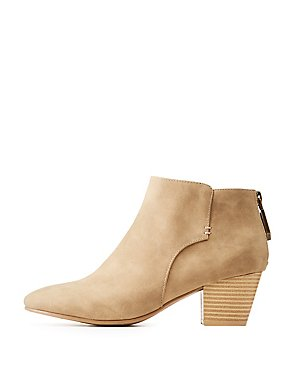 Qupid Zip-Back Ankle Booties