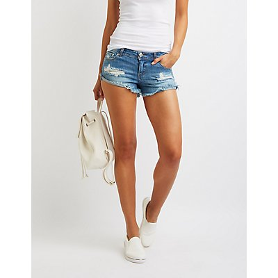 Destroyed Denim Cut-Off Shorts