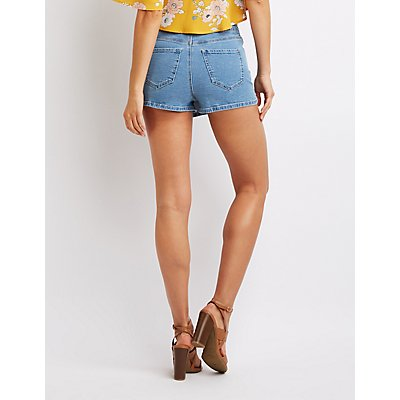 Refuge Button-Up Denim Skort