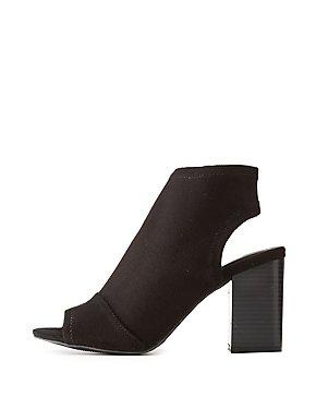 Peep Toe Open-Back Sandals
