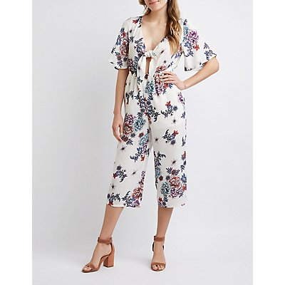 Floral Kimono Sleeve Jumpsuit