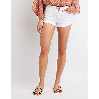 Refuge Destroyed Shortie Shorts
