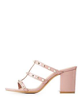 Studded Caged Slide Sandals