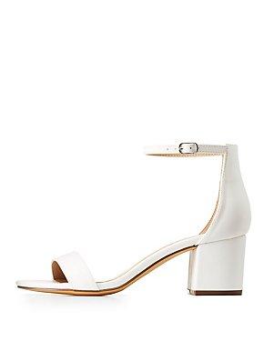 Block Heel Ankle Strap Sandals