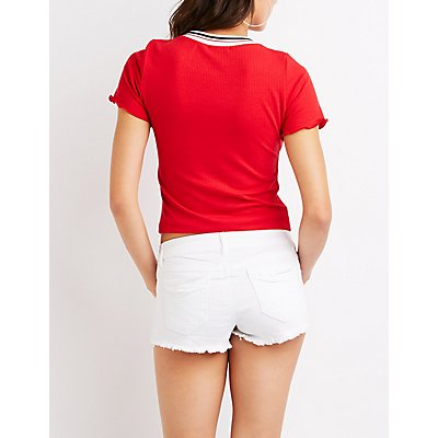 Refuge Cut-Off Shortie Shorts