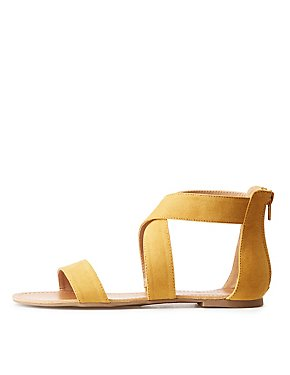 Crossed Ankle Wrap Sandals