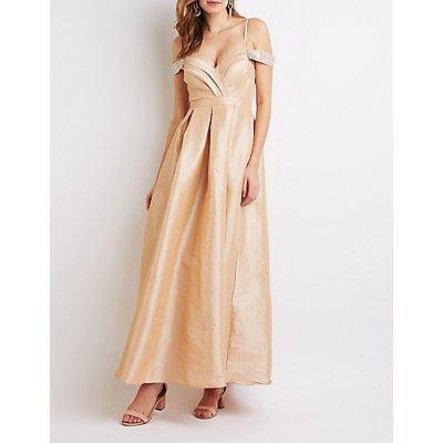 Rhinestone Embellished Maxi Dress