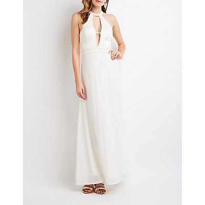 Embellished Cut-Out Maxi Dress