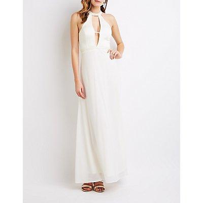 Embellished Cut-Out Maxi Dress