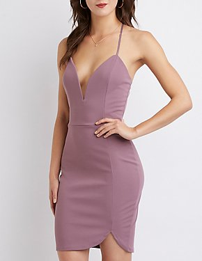 Wire Notch Bodycon Dress