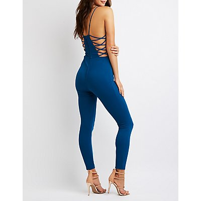 Caged V-Neck Jumpsuit