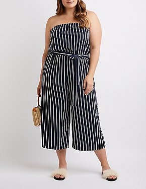 Plus Size Striped Jumpsuit