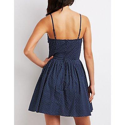 Polka Dot Sweetheart Skater Dress