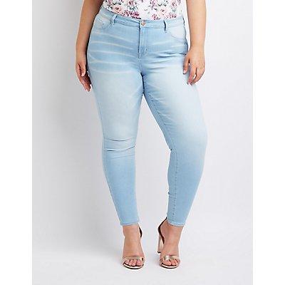 Plus Size Refuge Skin Tight Legging Jeans