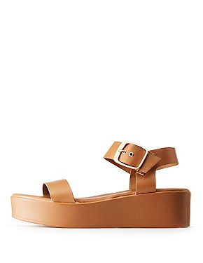 Bamboo Two-Piece Platform Sandals