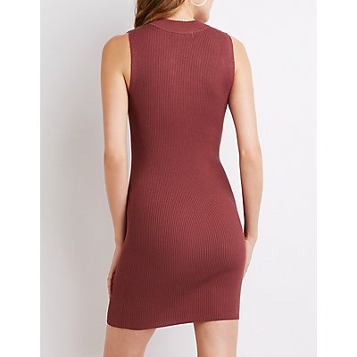 Ribbed Caged Bodycon Dress