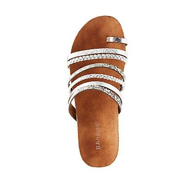 Bamboo Metallic Platform Sandals
