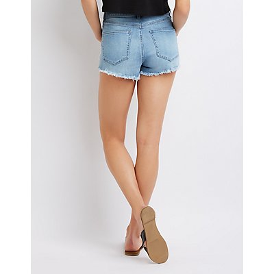 Refuge Destroyed Destroyed Denim Shorts