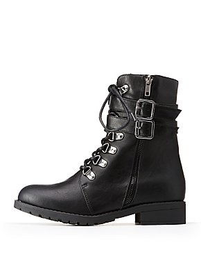 Buckle Combat Boots