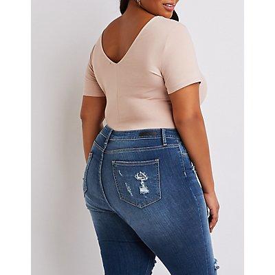 Plus Size V-Neck Bodysuit