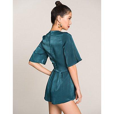 Kimono Sleeves V-Neck Romper