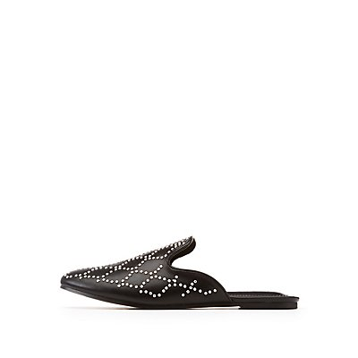 Stud Loafer Mules