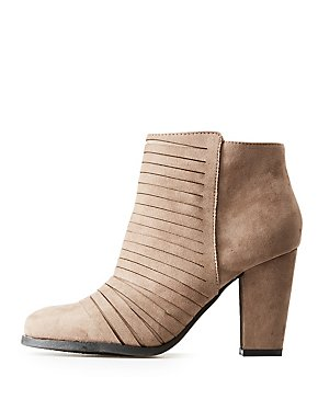 Bamboo Strappy Ankle Booties