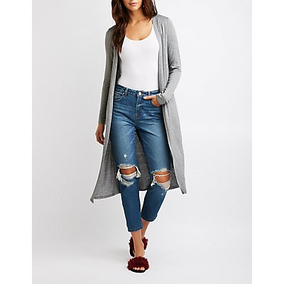 Open-Front Duster Cardigan