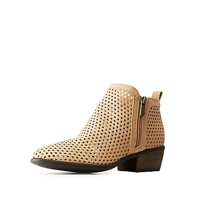 Bamboo Perforated Chelsea Booties
