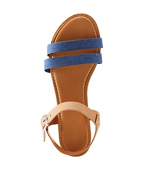 Bamboo Denim Two-Piece Sandals