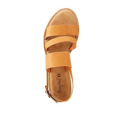 Triple Band Flat Sandals