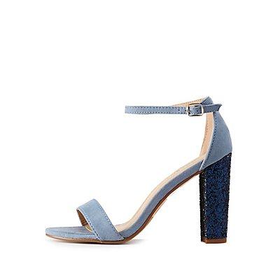 Ankle Strap Glitter Detailed Sandals
