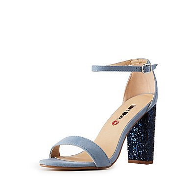 Ankle Strap Glitter Detailed Sandals
