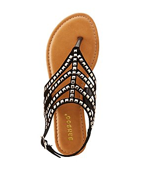 Bamboo Studded Caged Sandals