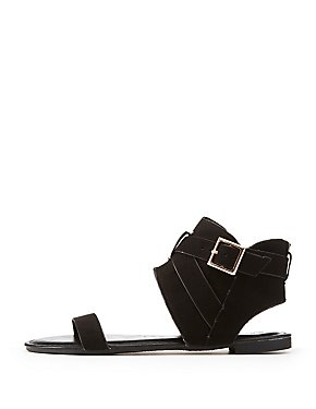 Bamboo Belted Cuff Sandals