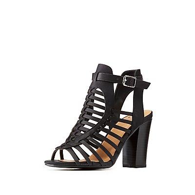 Huarache Caged Sandals
