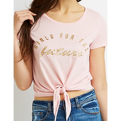Girls For The Future Knotted Graphic Tee