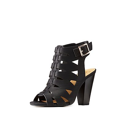 Laser Cut Slingback Sandals