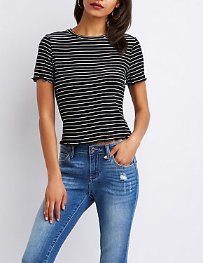 Striped Lettuce-Trim Top