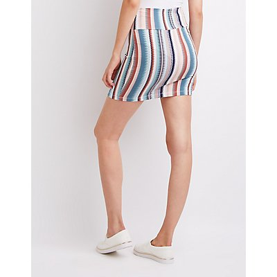 Geometric Foldover Mini Skirt