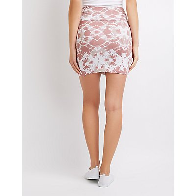 Tie Dye Bodycon Mini Skirt
