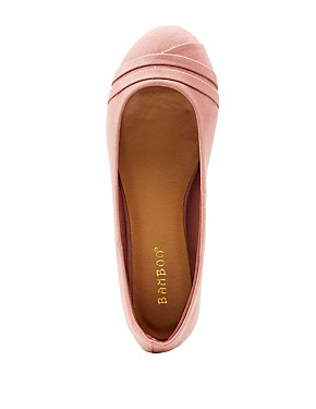 3d66ca7866e Bamboo Faux Suede Round Toe Flats