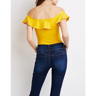 Ruffle Off-The-Shoulder Bodysuit