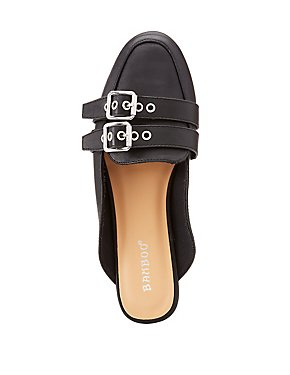 Bamboo Buckle Loafer Mules