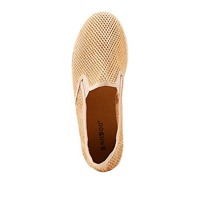 Bamboo Metallic Slip-On Espadrilles