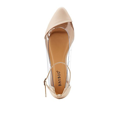 Bamboo Faux leather & PVC-Trim Flats